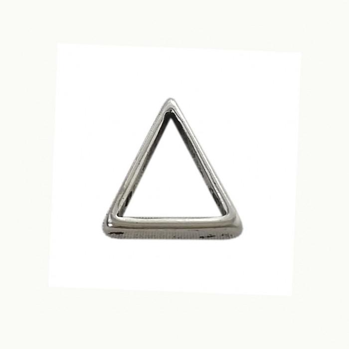 Perle en métal triangulaire isocèle 21mm argent x1