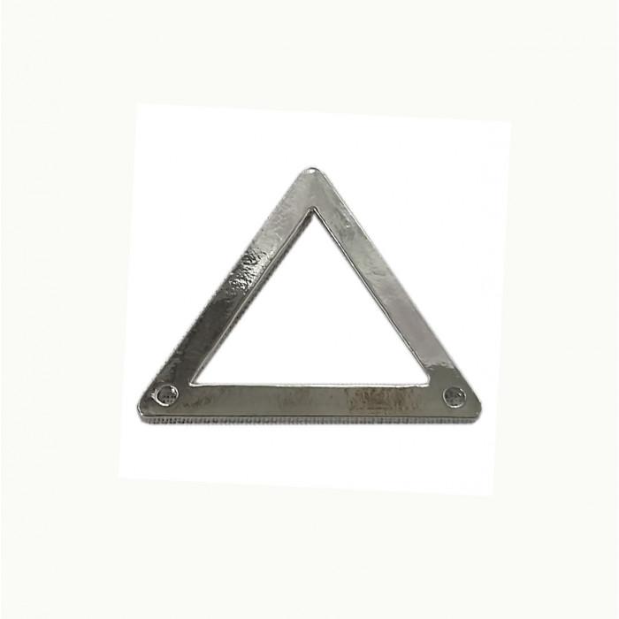 Perle en métal triangulaire équilatéral 31mm argent x1