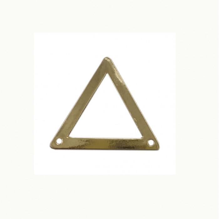 Perle en métal triangulaire équilatéral 31mm doré x1
