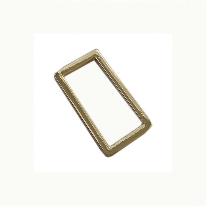 Perle en métal rectangulaire doré 36mm x1