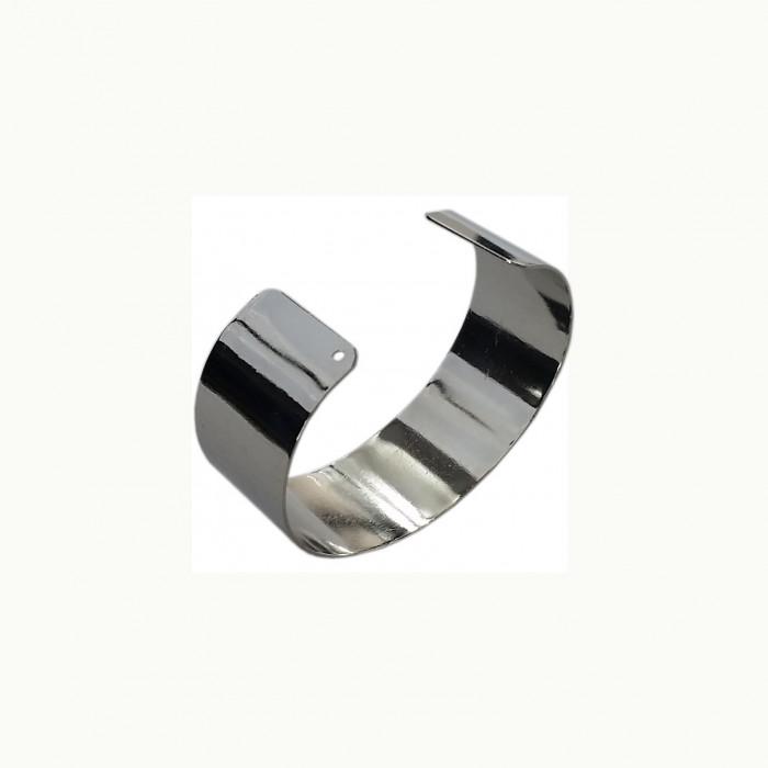 Manchette métal à personnaliser 69mm/25mm argent x1
