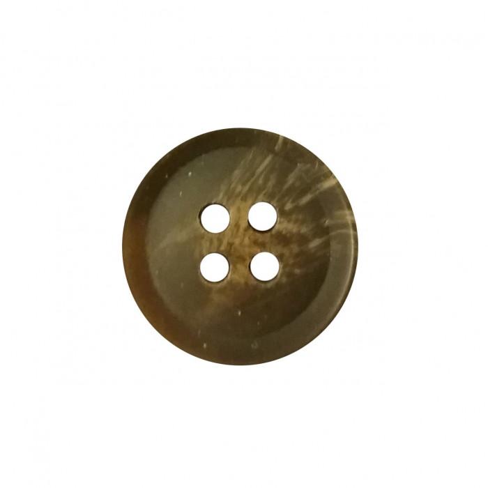 Bouton 4 trous en résine marron foncé 15mm
