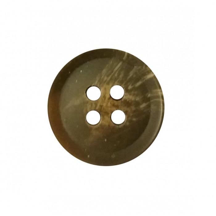 Bouton 4 trous en résine marron foncé 17mm