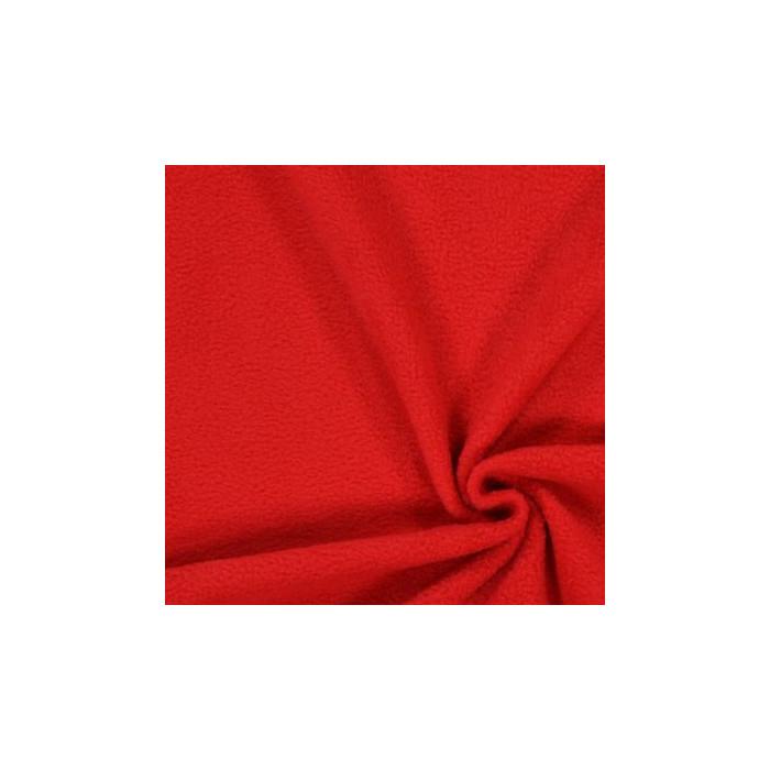 Tissu polaire - rouge x 10 cm