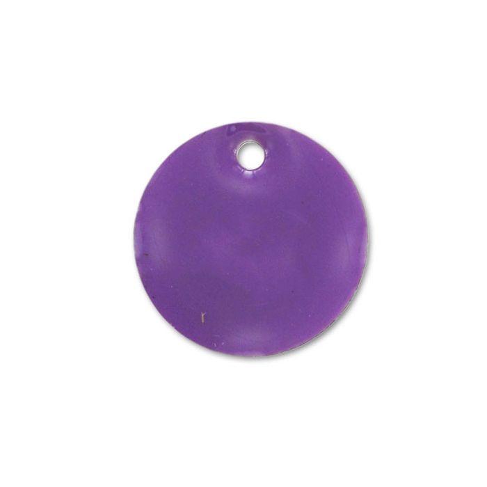Sequin émaillé rond 8mm violet x1