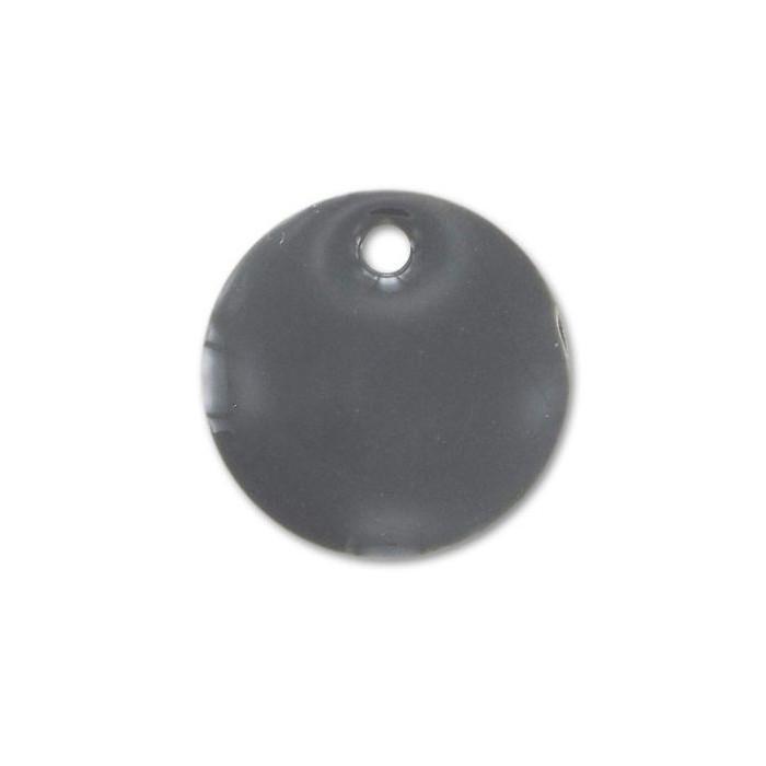Sequin émaillé rond 8mm gris x1
