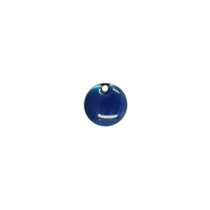 Sequin émaillé rond 10mm bleu nuit x1