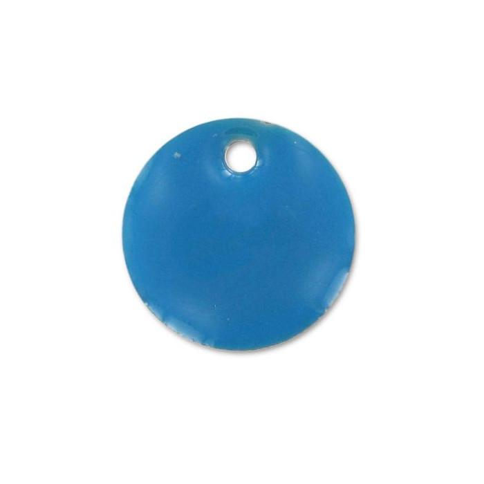 Sequin émaillé rond 10mm bleu ciel x1
