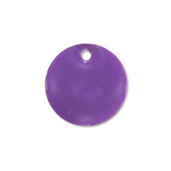 Sequin émaillé rond 12mm violet x1