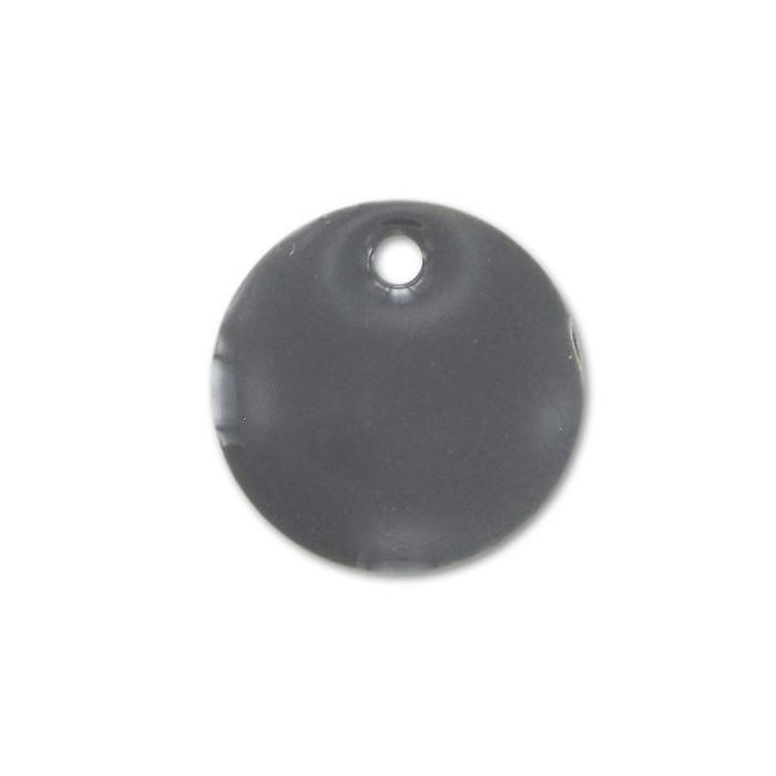 Sequin émaillé rond 12mm gris x1