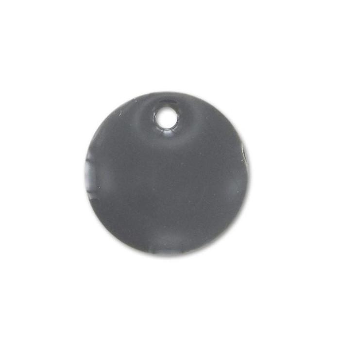 Sequin émaillé rond 15mm gris x1