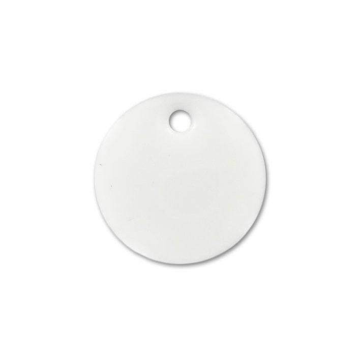 Sequin émaillé rond 15mm blanc x1