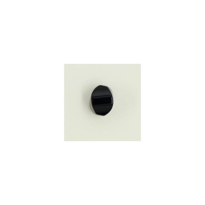 Agate: perle ovale facetté 8/5mm noir x1