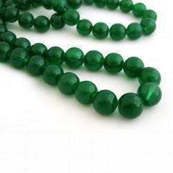 Jade: Perle rond 12mm vert foncé x1