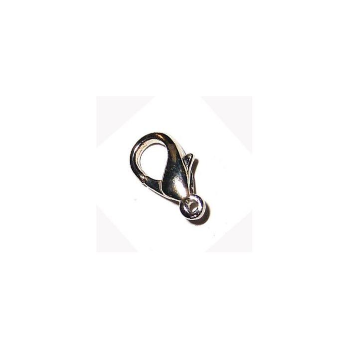 Fermoir mousqueton 24mm argent noirci x1