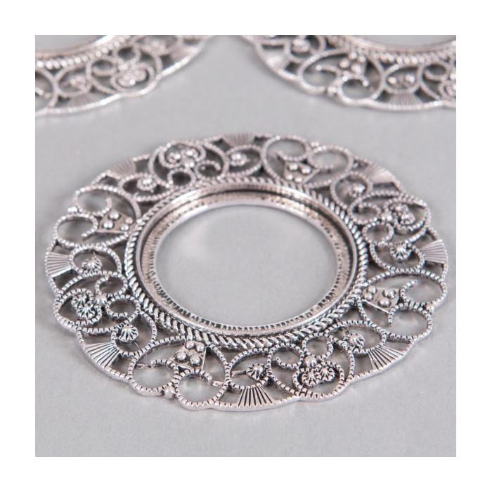 Estampe filigranée anneau 76mm argent x1