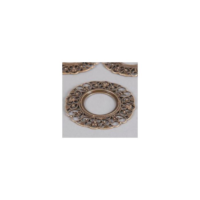 Estampe filigranée anneau 76mm bronze x1