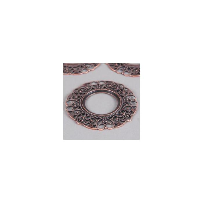 Estampe filigranée anneau 76mm cuivre x1