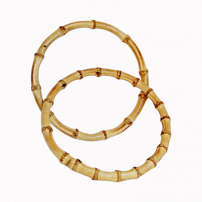 Anses de sac en bambou forme ronde x 2