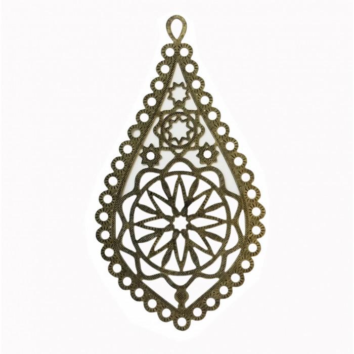 Estampe filigrane étoile 65mm bronze x1