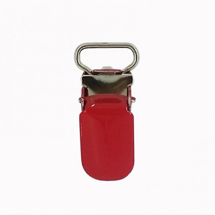 Pince bretelle accroche tétine rouge
