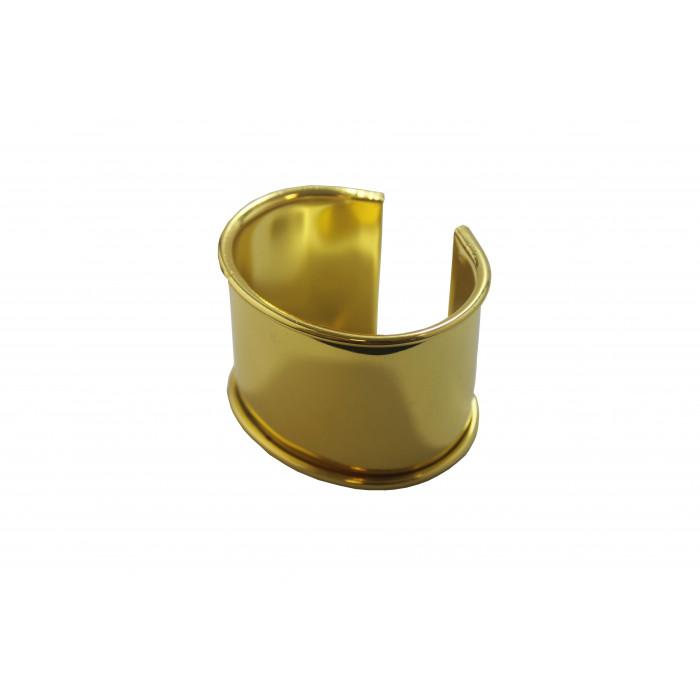 Manchette métal avec rebord à personnaliser dorée 50mm x1