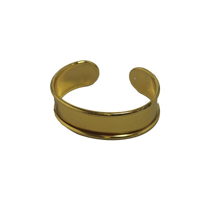 Manchette métal avec rebord à personnaliser dorée 20 mm x1