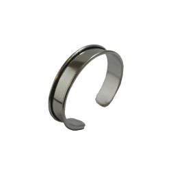 Manchette métal avec rebord à personnaliser argentée 15 mm