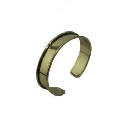 Manchette métal avec rebord à personnaliser dorée 15 mm