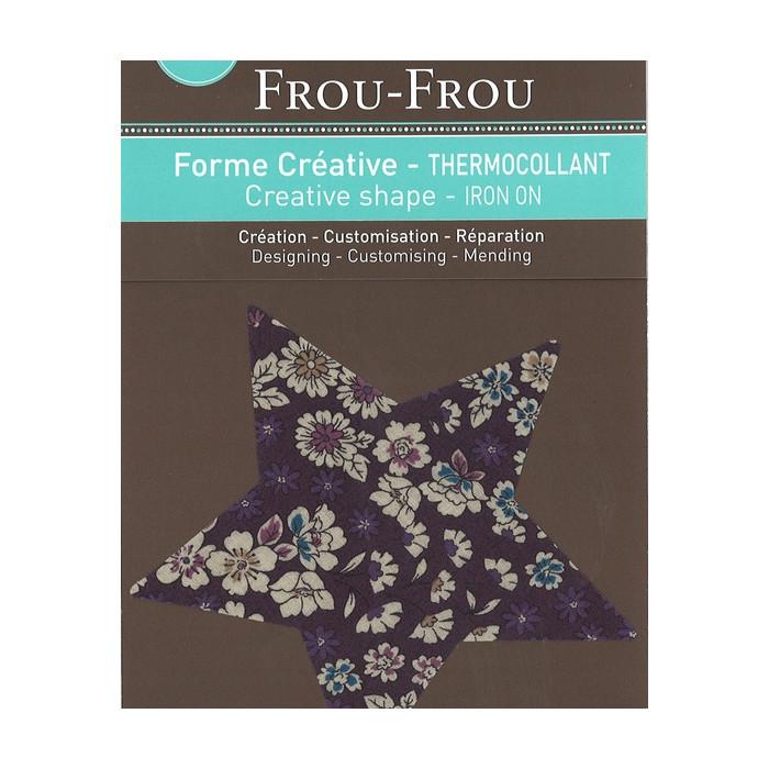 Thermocollant étoile Frou-Frou - violet