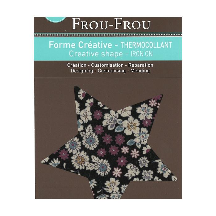 Thermocollant étoile Frou-Frou - noir
