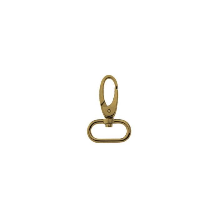 Attache mousqueton bronze pour sac 25x45 mm