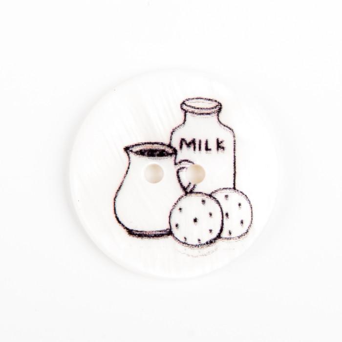 Bouton en nacre Milk