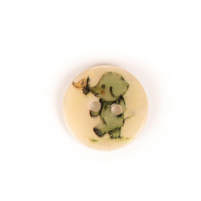 Bouton en nacre petit éléphant