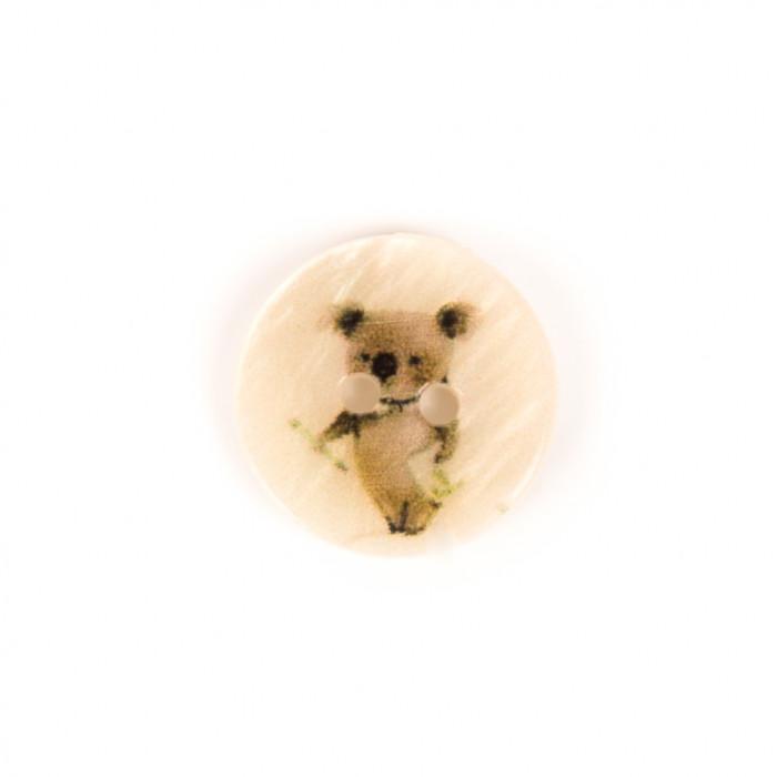 Bouton en nacre 15 mm koala