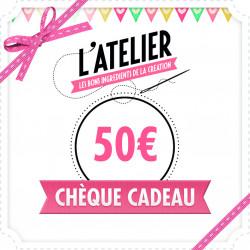 Carte Cadeau Magasin 50 €
