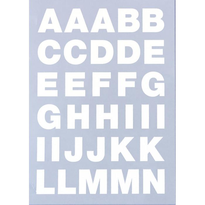 Alphabet à repasser blanc - thermocollant