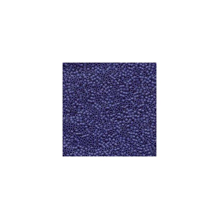 Miyuki Delicas 11/0 - mat Métallique bleu foncé - DB377 x6g