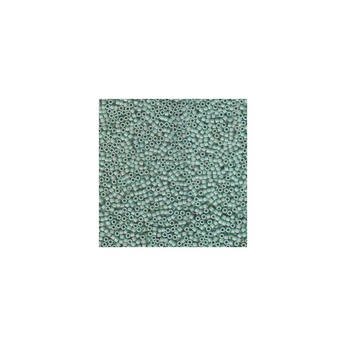 Miyuki Delicas 11/0 - Matte opaque Sea Foam Glazed Luster - DB374 x6g