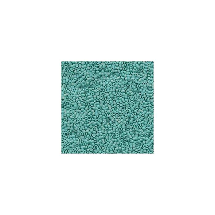 Miyuki Delicas 11/0 - Matte Opaque turquoise - DB878 x6g