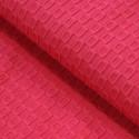 Tissu reliefs géométriques rose