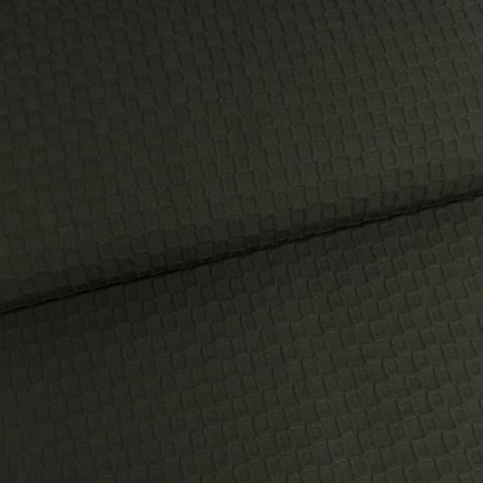 Tissu reliefs géométriques gris foncé x 10 cm