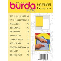 Papier calque carbone Burda jaune et blanc