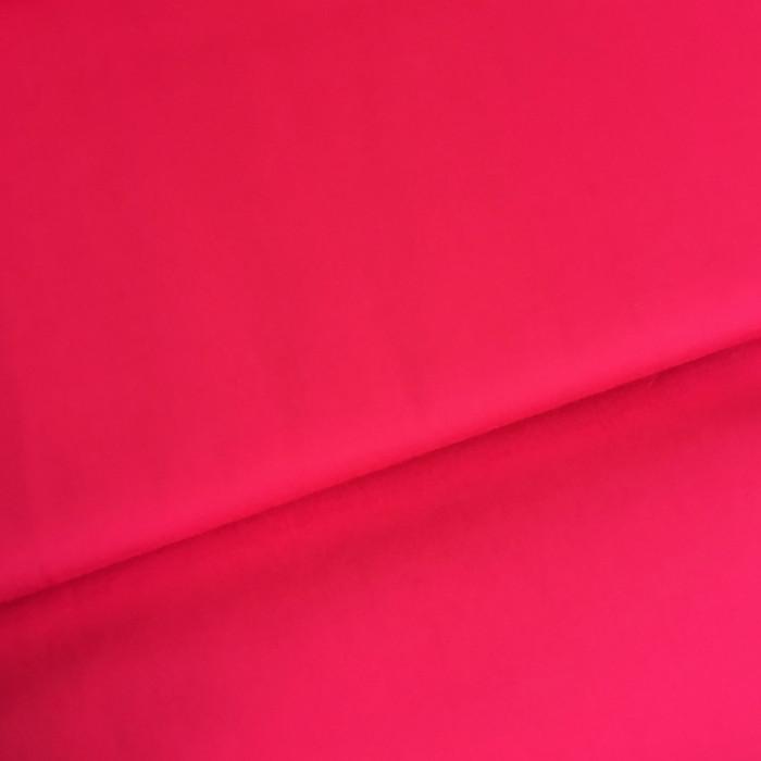 Tissu coton popeline rose fuchsia