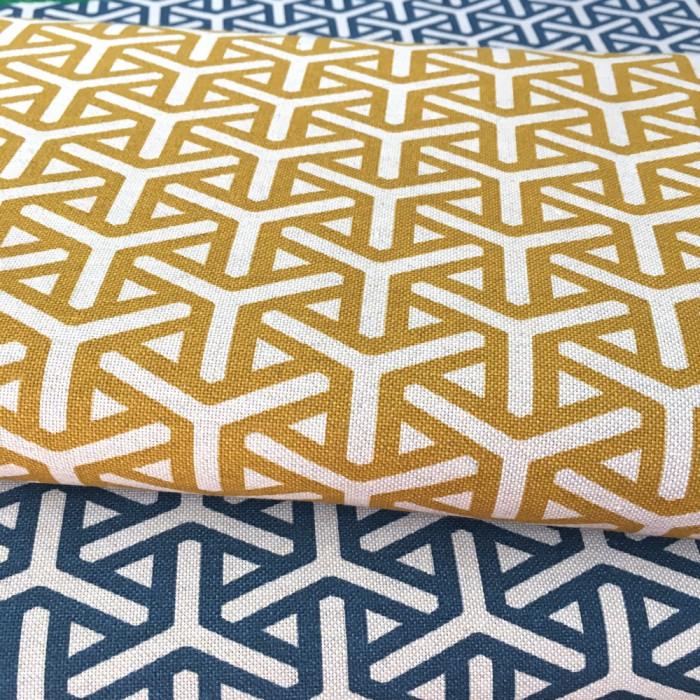 Tissu Abstract jaune - Poppy