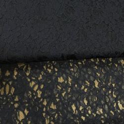 tissu dentelle noire