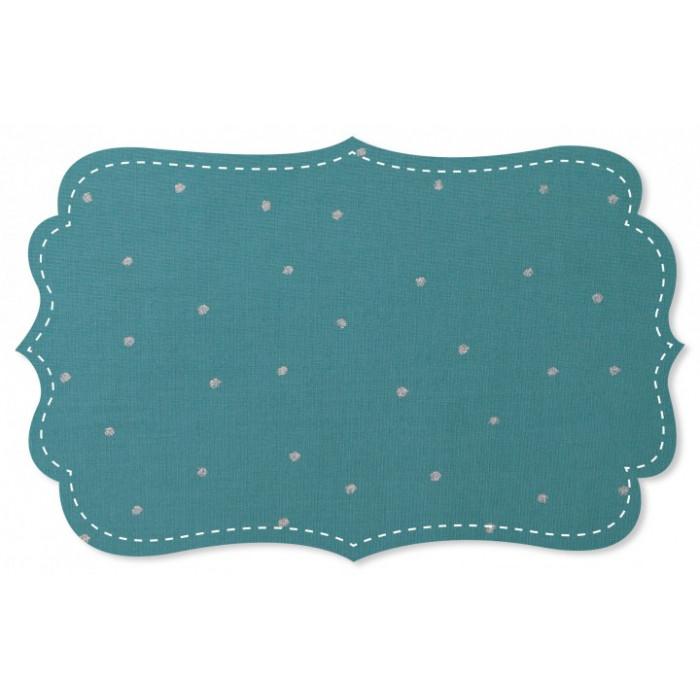 Voile coton bio bleu pois glitter - C. Pauli