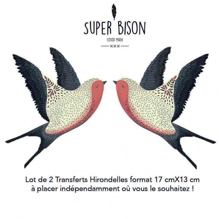 Transfert textile hirondelles - Super Bison