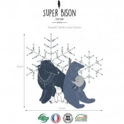 Transfert textile ours flocon - Super Bison