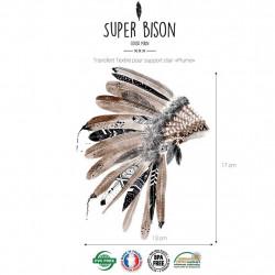 Transfert textile plumes - Super Bison